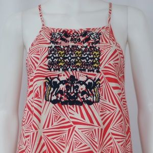 NWT Cream, Coral, & Navy Dress Sz M